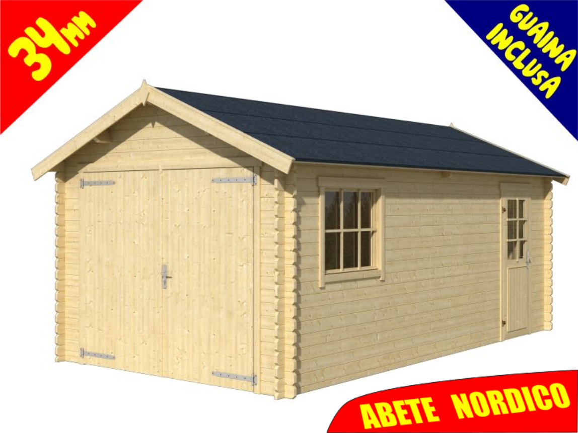 Palestre In Legno Prezzi garage : garage in legno dillon 560x320 cm spessore 34 mm