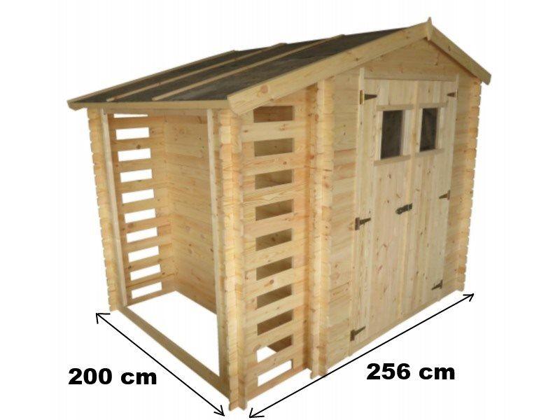 Casette da giardino casetta in legno con legnaia - Costruire casette in legno fai da te ...