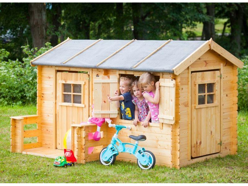 Casette Per Bambini In Legno : Casetta in legno alida per bambini con torretta scivolo e
