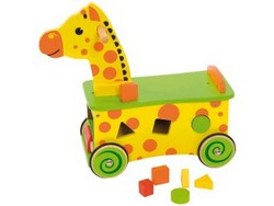 GIRAFFA CAVALCABILE RIDE ON - CON FIGURE DA ORDINARE 40x19x25 cm